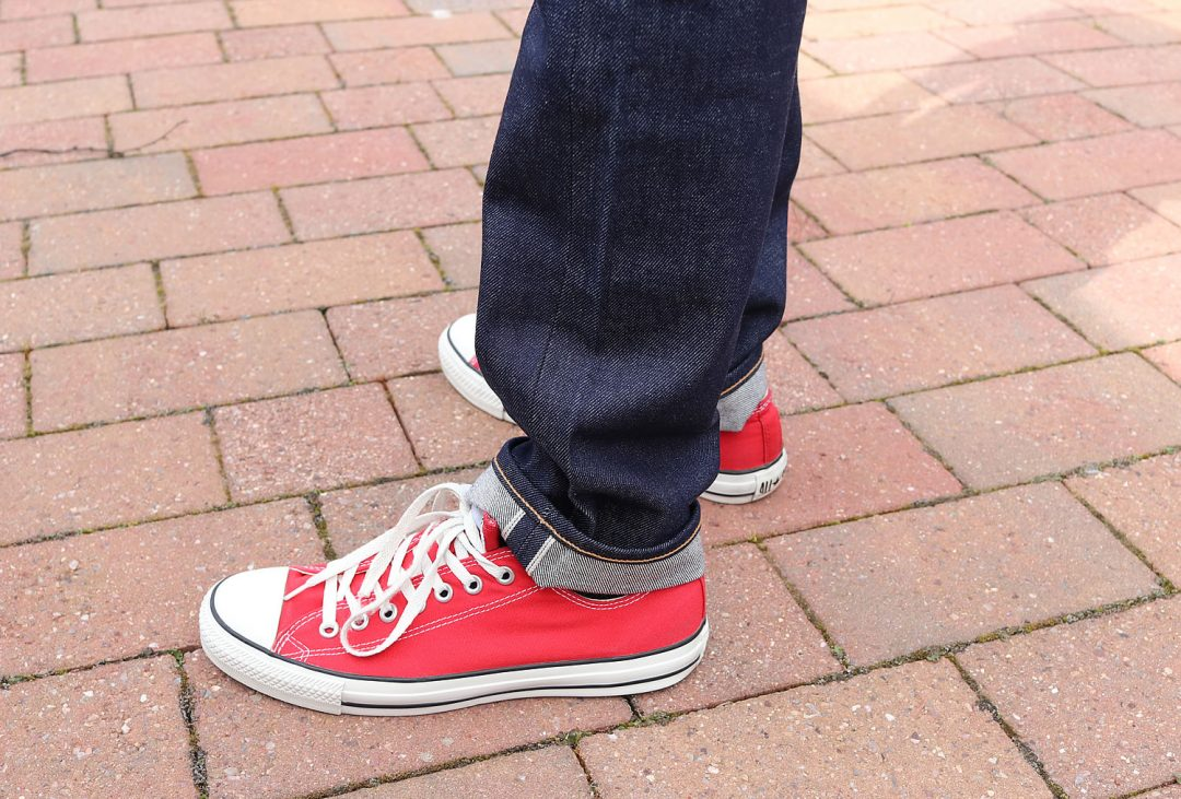 Levi's 511 Selvedge Jeans With Converse