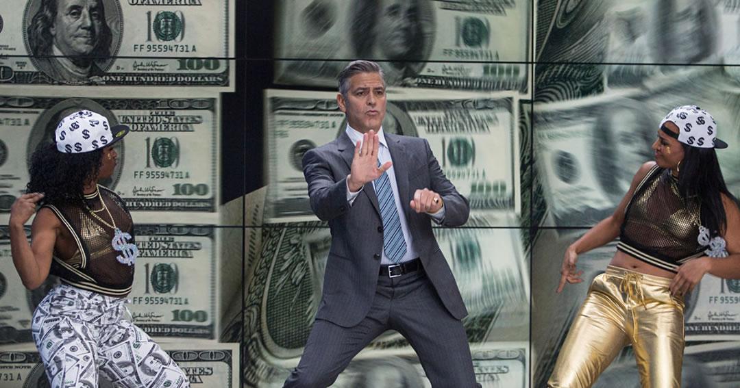 George Clooney dancing in Money Monster