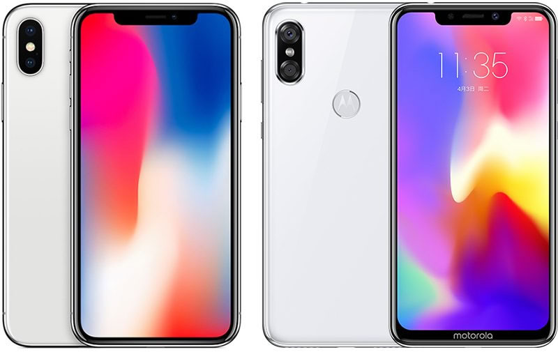 iPhone X vs Motorola P30