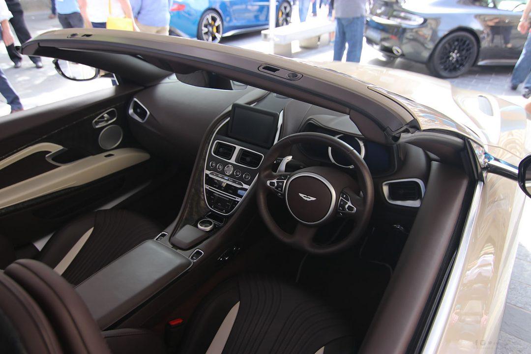 Inside of the Aston Martin
