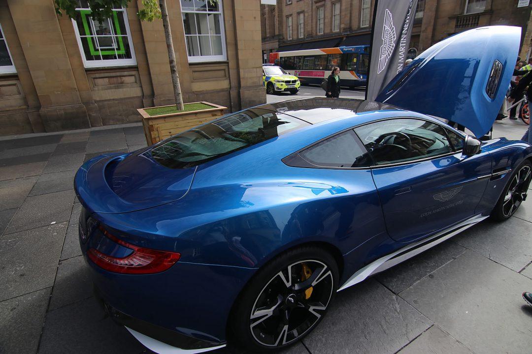 Beautiful blue Aston Martin