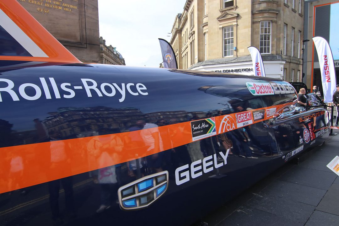 Saw the Bloodhound SSC Car at the Newcastle Car Show