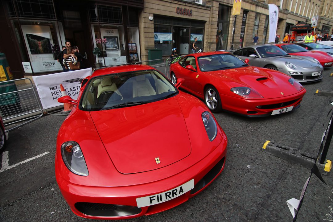 Some Ferrari's at the Newcastle Car Show on Grey Street