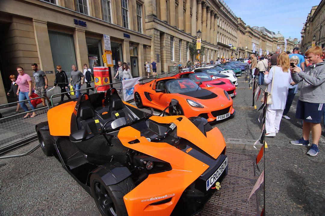 British Lotus Cars At Newcastle Car Show