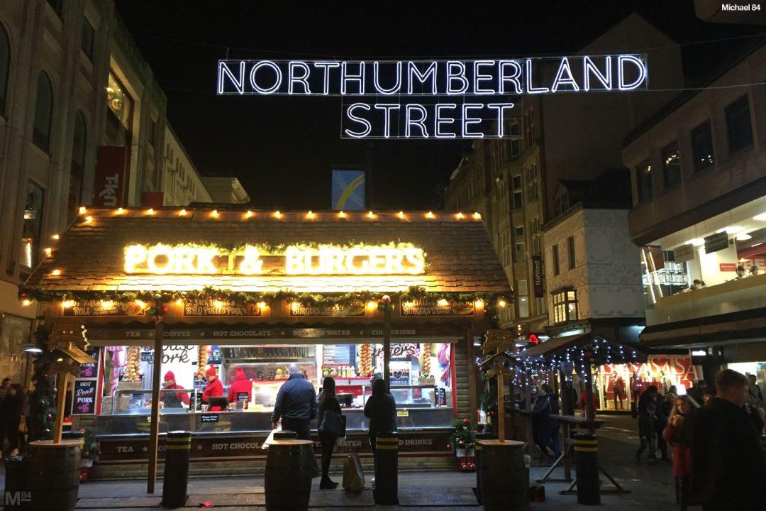 Newcastle Christmas Market At Northumberland Street