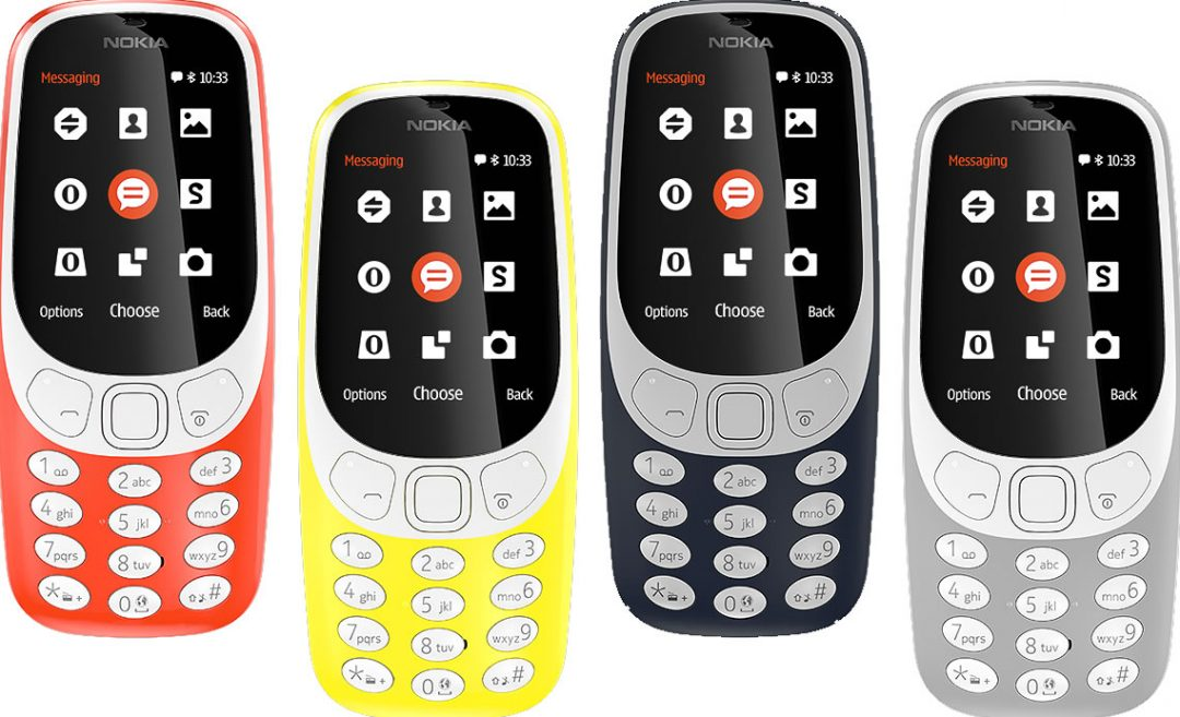 The brand new Nokia 3310 is coming in four colours!