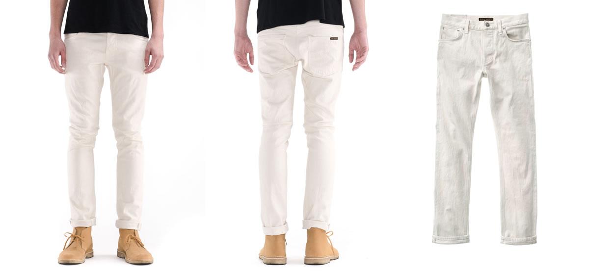 Ecru Selvedge denim from Nudie Jeans