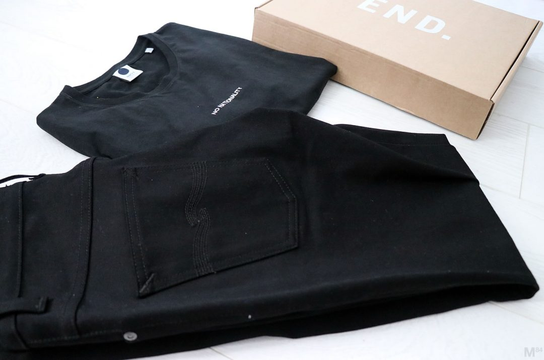 Black Jeans From Nudie And Black T-shirt From NN07 No Nationality