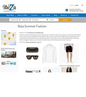 Ibiza Summer Villas Feature