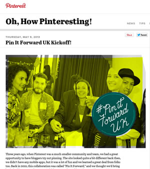 Part Of The Pinterest Pin It Forward Campaign