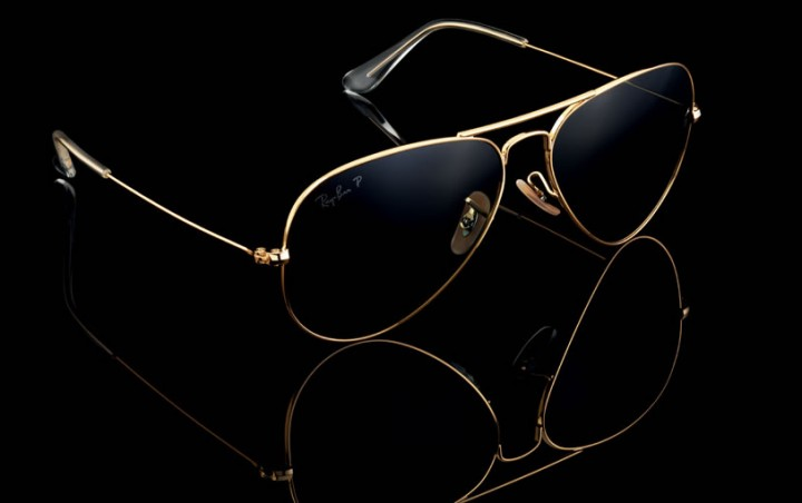 Solid 18k gold ray ban aviators michael 84 for Lunettes de soleil ray ban aviator miroir