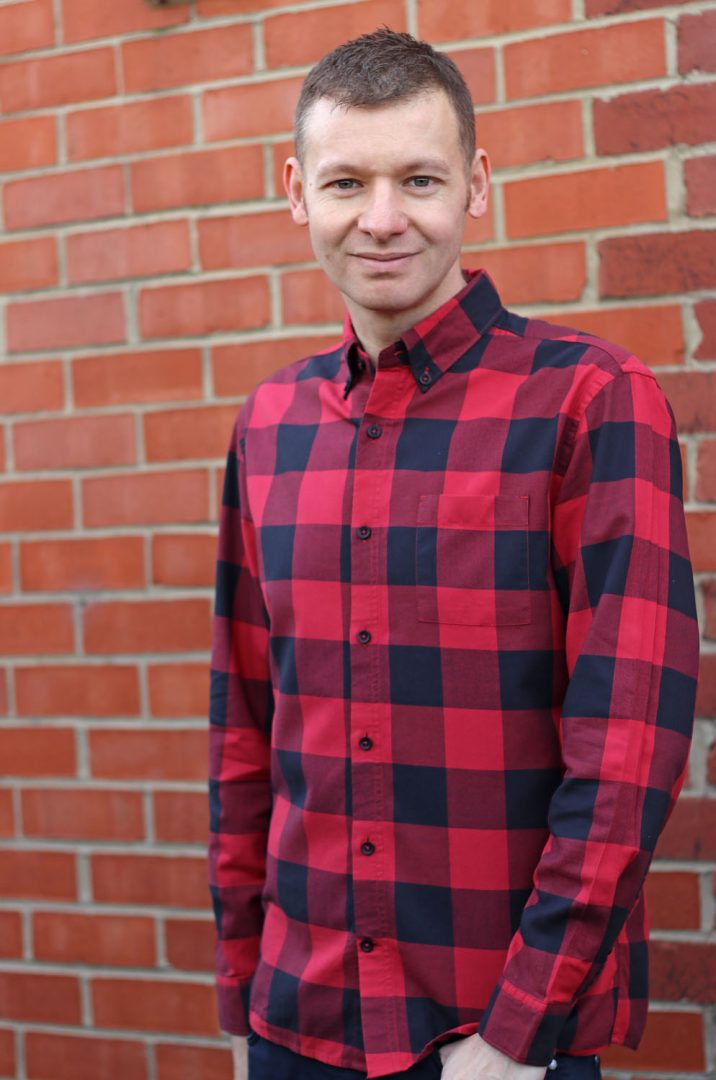 Red And Black Check Shirt Styled Michael 84