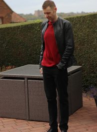 Red Cashmere Sweater - Men's Style Outfit