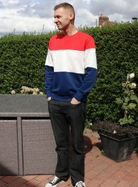 Outfit - How I Style My Red, White And Blue Sweatshirt
