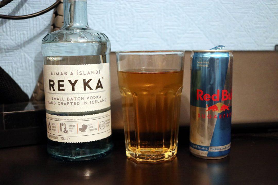 Having A Reyka Vodka From Iceland With Redbull
