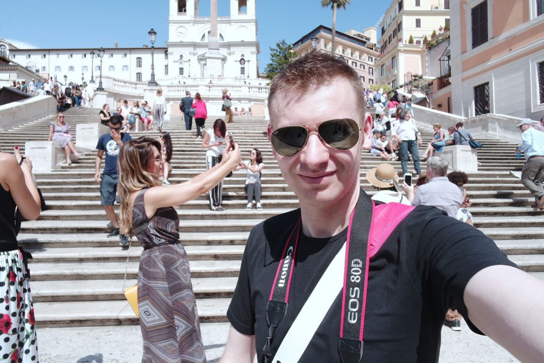 Michael 84 Selfie On The Spanish Steps