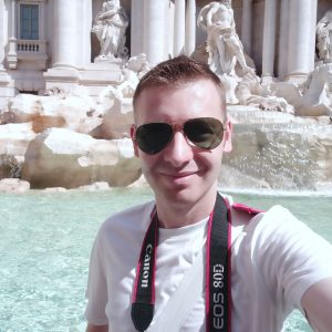 Selfie At The Trevi Fountain
