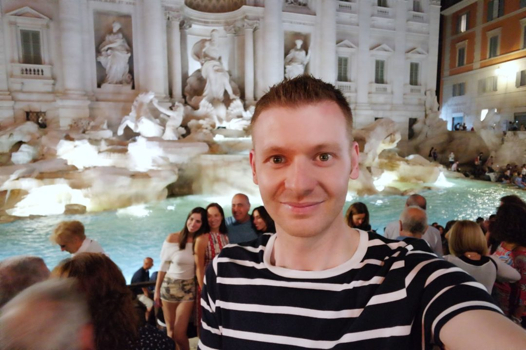 Michael84 At The Trevi Fountain In Rome At Night