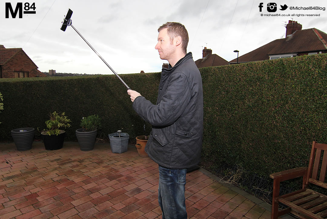 the selfy stick aka selfie stick for iphone review michael 84 men 39 s f. Black Bedroom Furniture Sets. Home Design Ideas