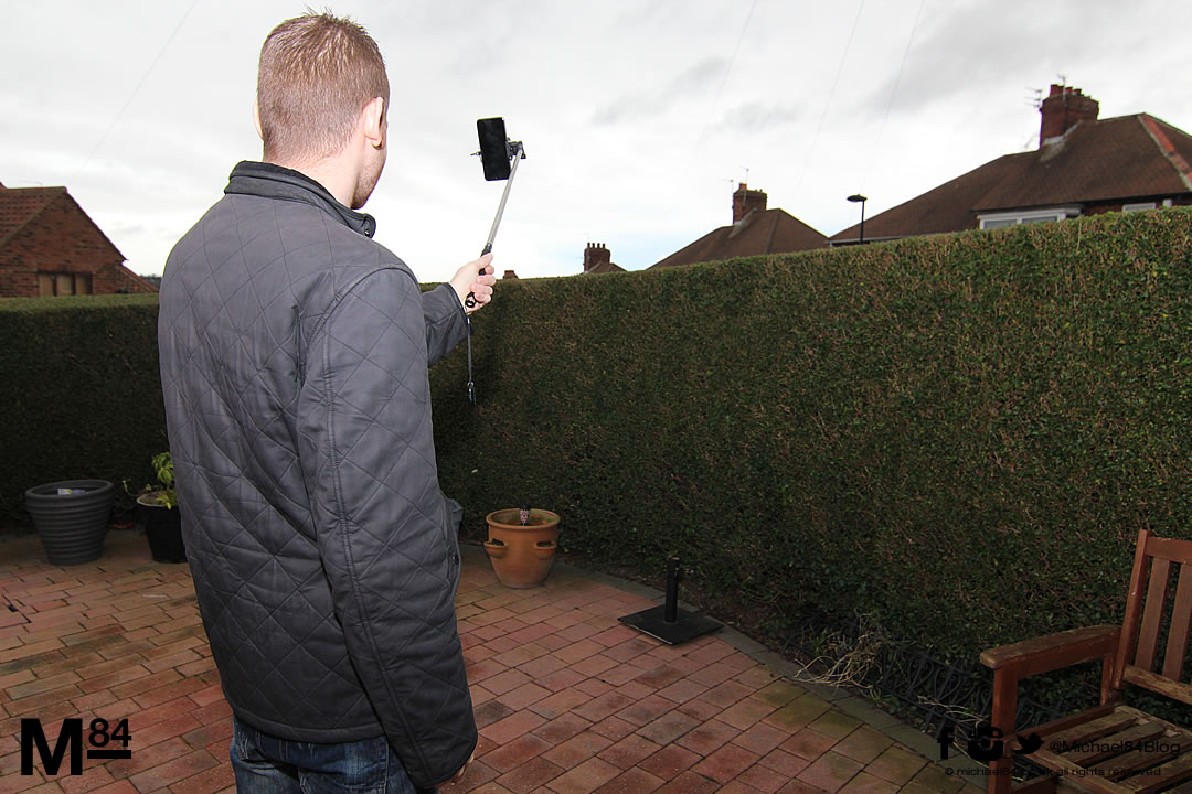 the selfy stick aka selfie stick for iphone review michael 84 men 39 s fashion lifestyle. Black Bedroom Furniture Sets. Home Design Ideas
