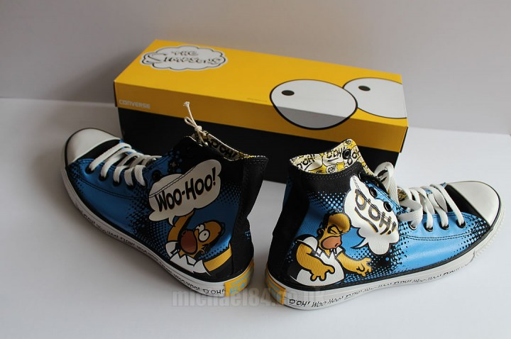 the simpsons x converse homer hi tops michael 84