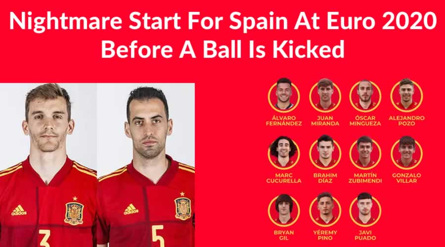 Spain Nightmare Start To Euro 2020 Without Busquets Or Diego Llorente