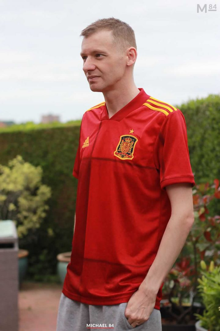 Looking Forward To Spain vs Poland Tonight! Wearing My 2020 Home Spain Shirt