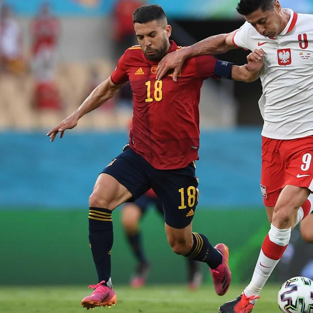 Morata vs Lewandowski - Spain 1-1 Poland Euro 2020