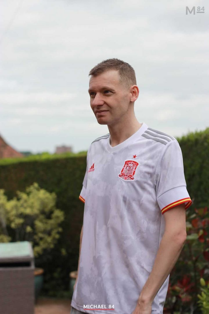 Wearing my Spain 2021 Away Shirt For Tonight's Match Against Slovakia