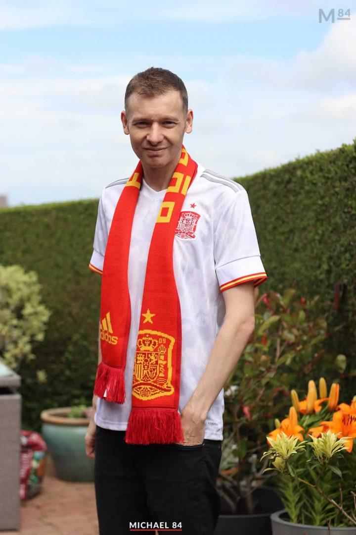Wearing The Spain Away Shirt For Spain vs Switzerland In Euro 2020 Tonight
