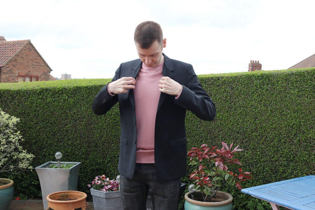 H&M Jacket, Sweatshirt and Black APC Jeans