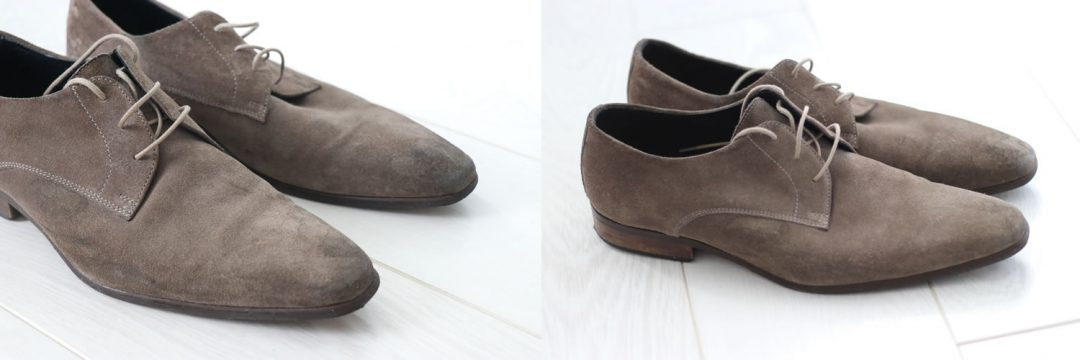 Before And After Suede Kurt Geiger Shoes
