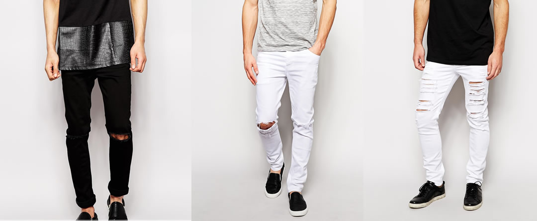 Dark blue jeans outfit men
