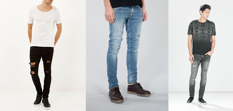 White skinny jeans for men