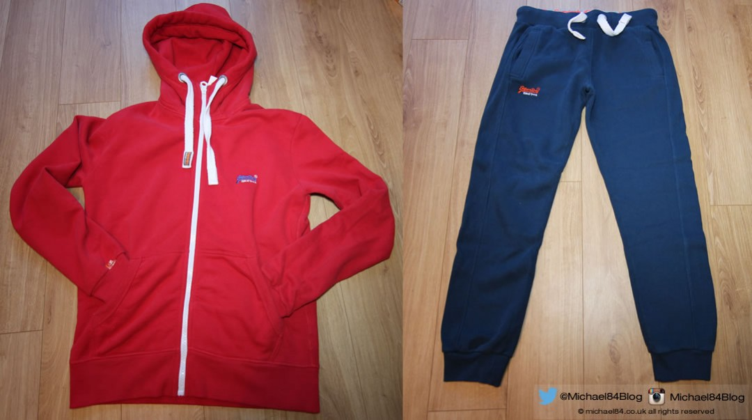superdry orange label hoodie and sweat pants