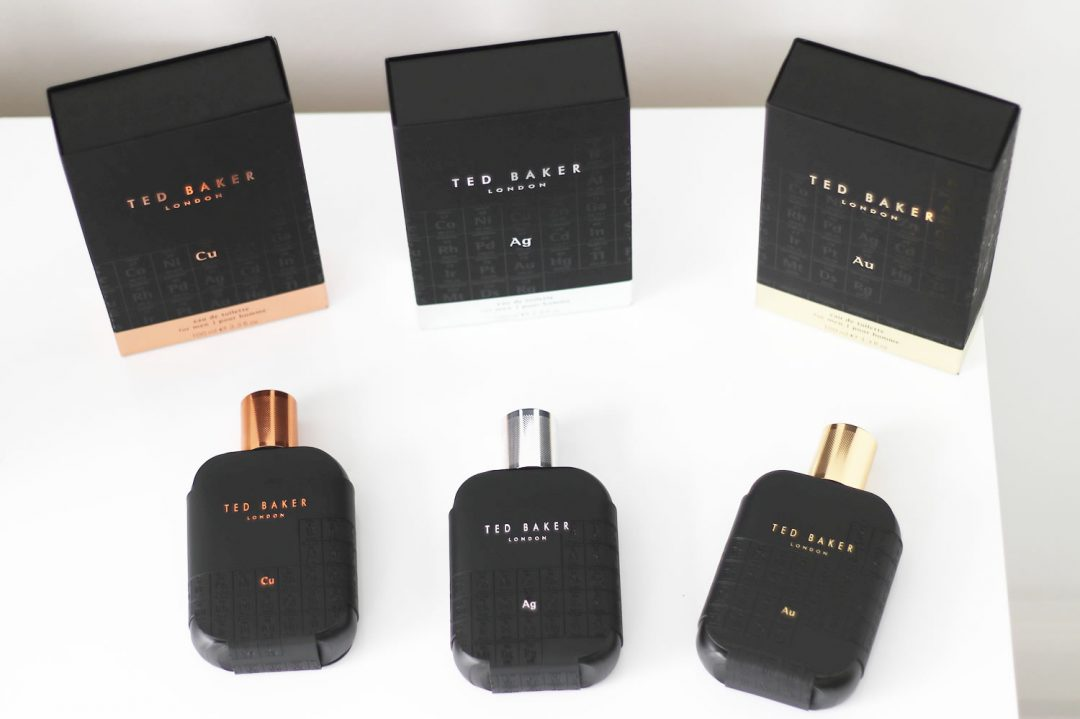 Ted Baker Tonics Fragrances Copper, Silver Gold