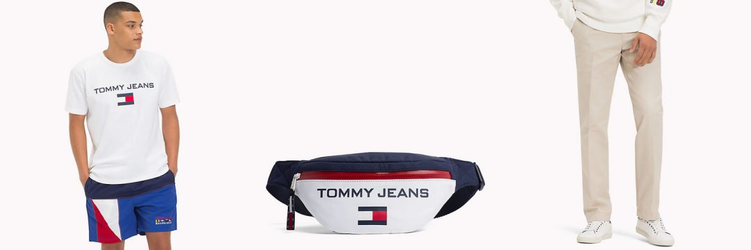 Tommy jeans bum bag, T Shirt and Chinos