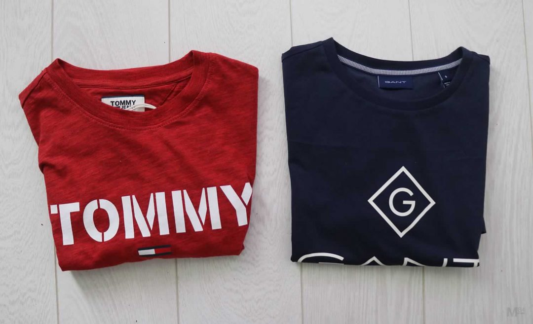 Gant And Tommy Hilfiger T Shirts