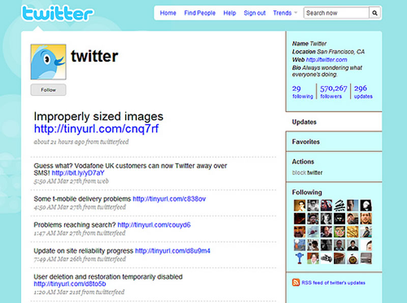 Remember when Twitter looked like this? 2008, the good old days of Twitter