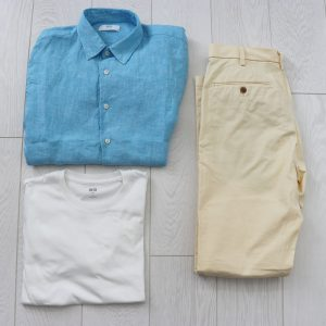Uniqlo Linen Shirt, T Shirt and Chinos For Summer 2018