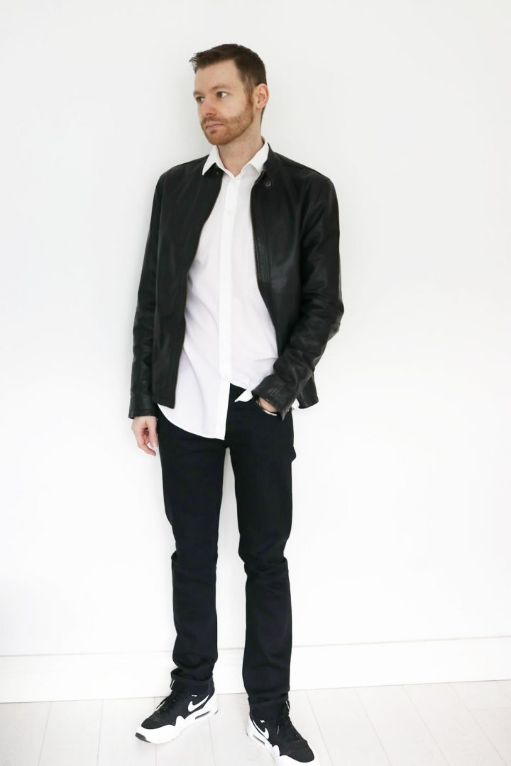 Find and save ideas about White blazer outfits on Pinterest. | See more ideas about Work fashion, Blazers clothing and Polka dot going out dresses. Blue Jean Friday: White blazer, black blouse or t-shirt, boyfriend jeans, black heels.