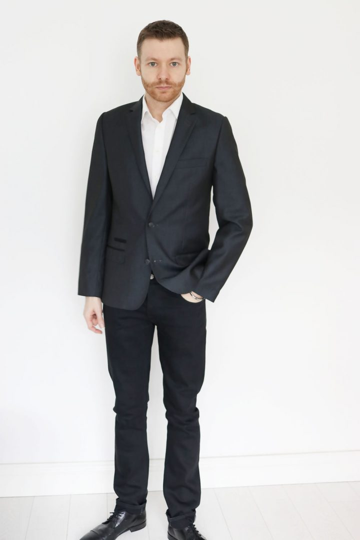 Styling a white shirt with a blazer