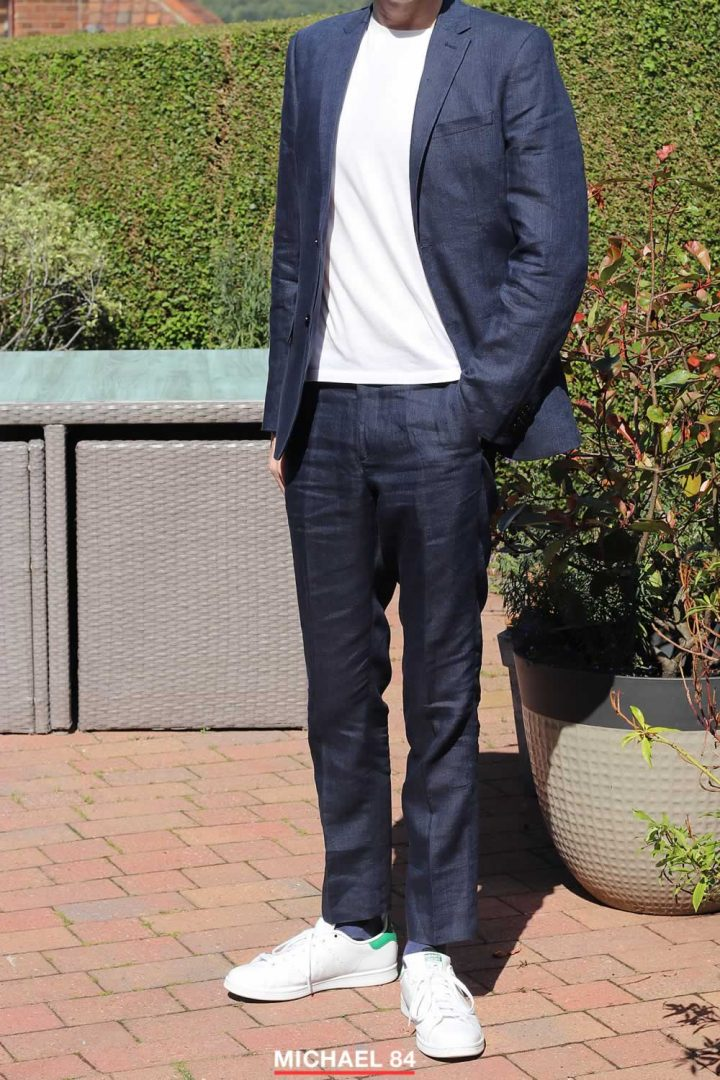 Outfit - Wearing White Trainers With a Suit - Michael 84
